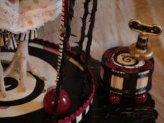 Spring Chicken Girl WIndup Musical Box
