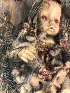 Stefanie Vega dollwerx artist all mounted doll Call to Adventure
