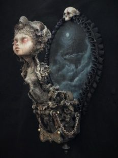mixed media assemblage art doll ghostly ship figurehead